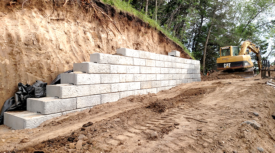 Foundations Commercial Installation Retaining Wall Concrete