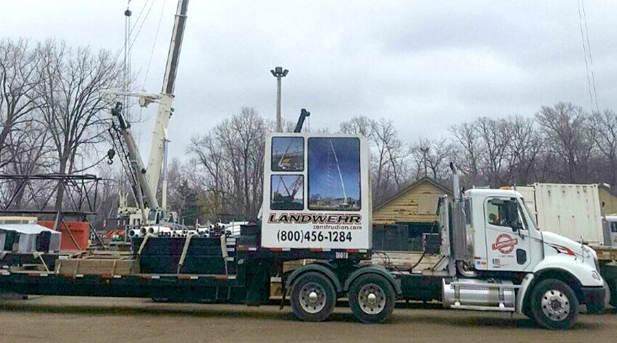 Landwehr Construction with a Large Crane